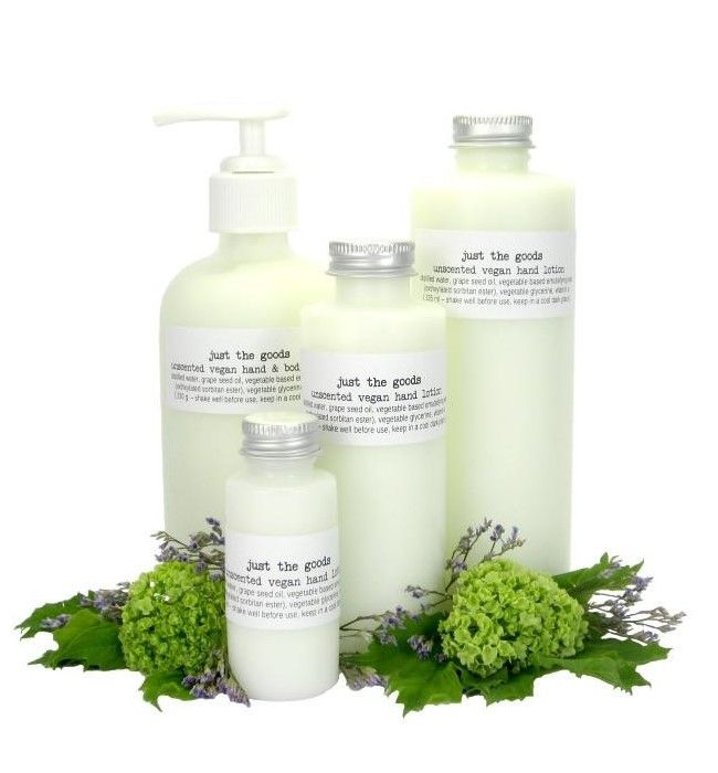 Just the Goods Vegan Unscented Hand and Body Lotion