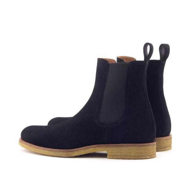 Black Onyx Crepe Chelsea Boots from Marc Wenn