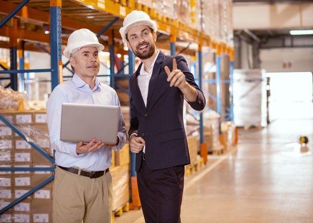 Two Men Working on Shelf Storage Optimization