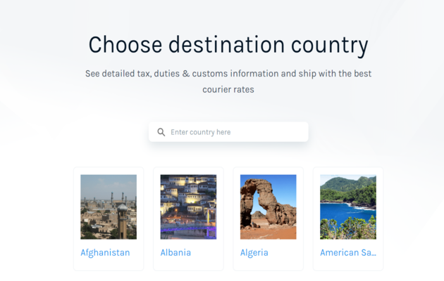 Easyship Shipping Guide per Country