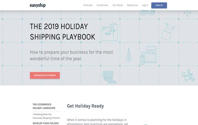 Easyship Holiday Shipping Guide