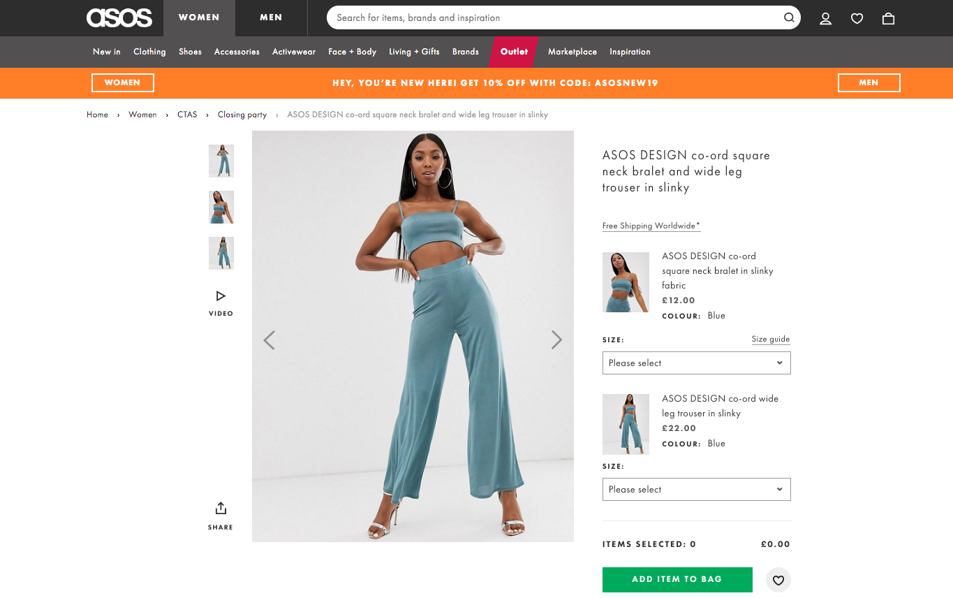 Users rated ASOS's product pages exceptionally high, especially when in comparison with other rival sites and retailers.