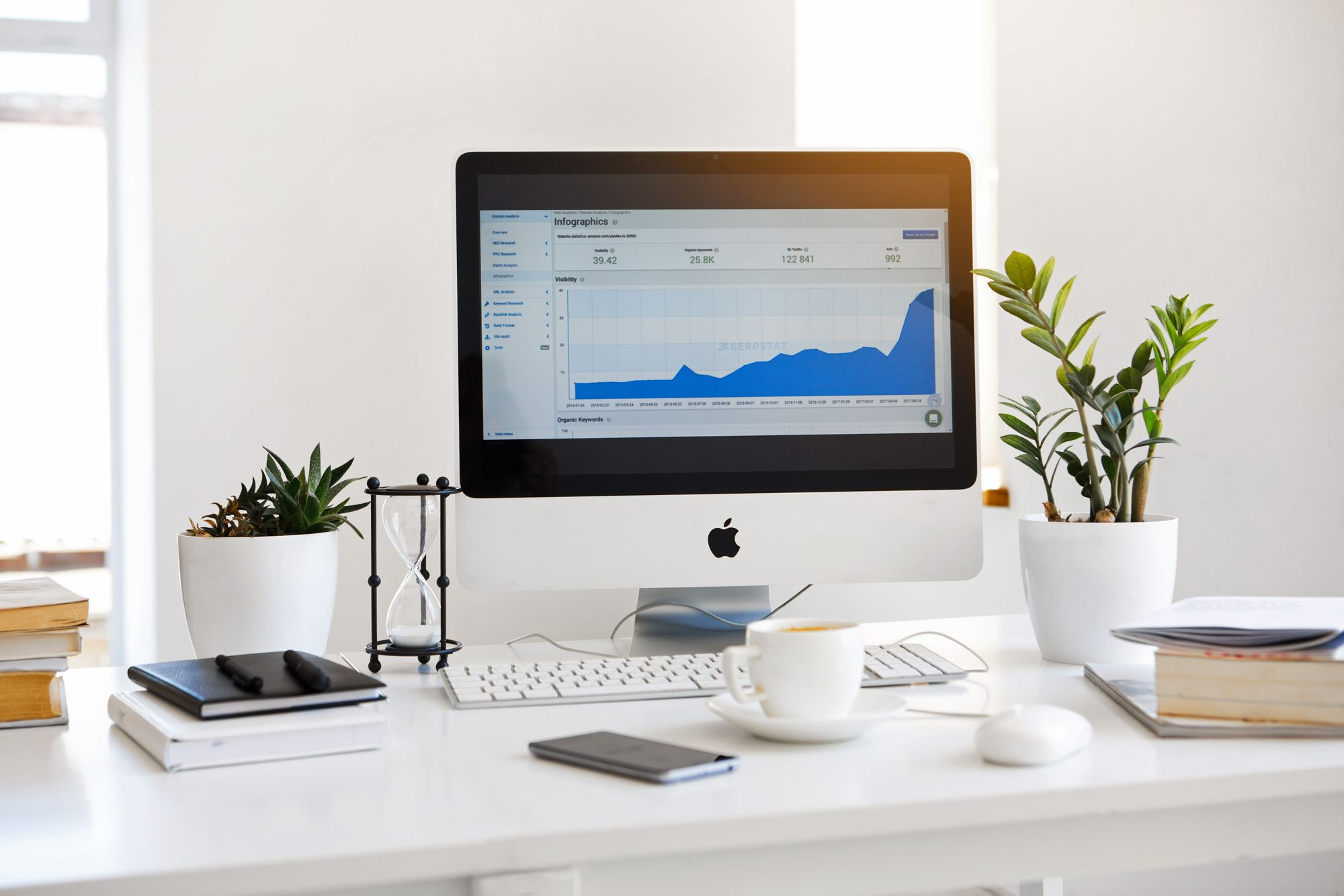 Mac Showing Shopify Integration Graph