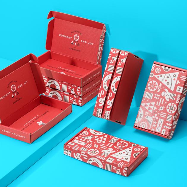 Custom packaging for Christmas