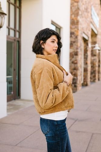 Bowed Bison Puff the Magic Corduroy Jacket
