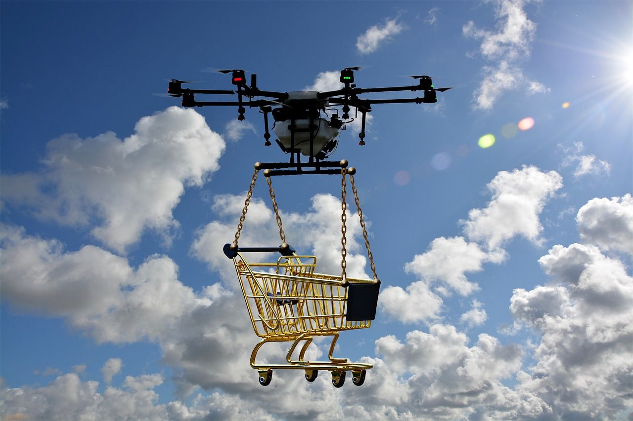 Drones Delivery Cart