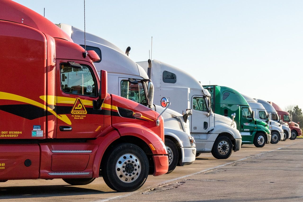 Trucks for Different  Ground Shipping Services