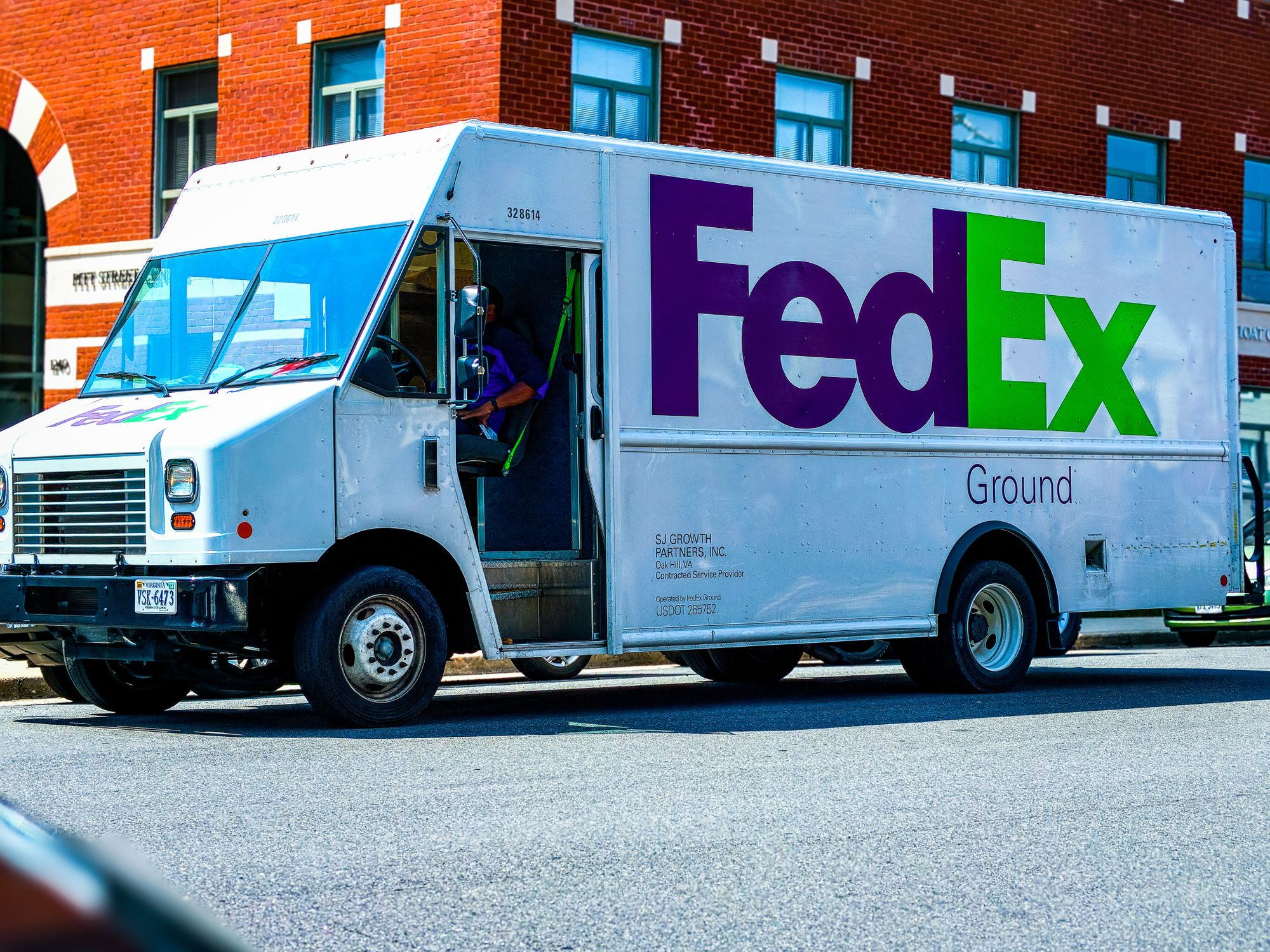 Fedex Truck Using Ground Service for Last-Mile of Delivery