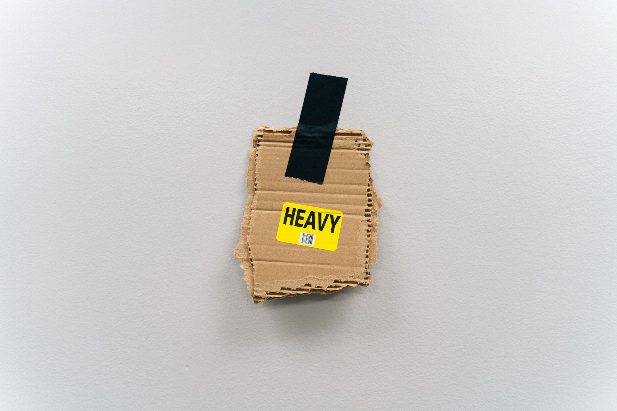 Heavy tag from shipping box
