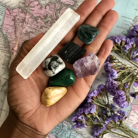 Crystals for Travel bundle from Chakra Zulu Crystals