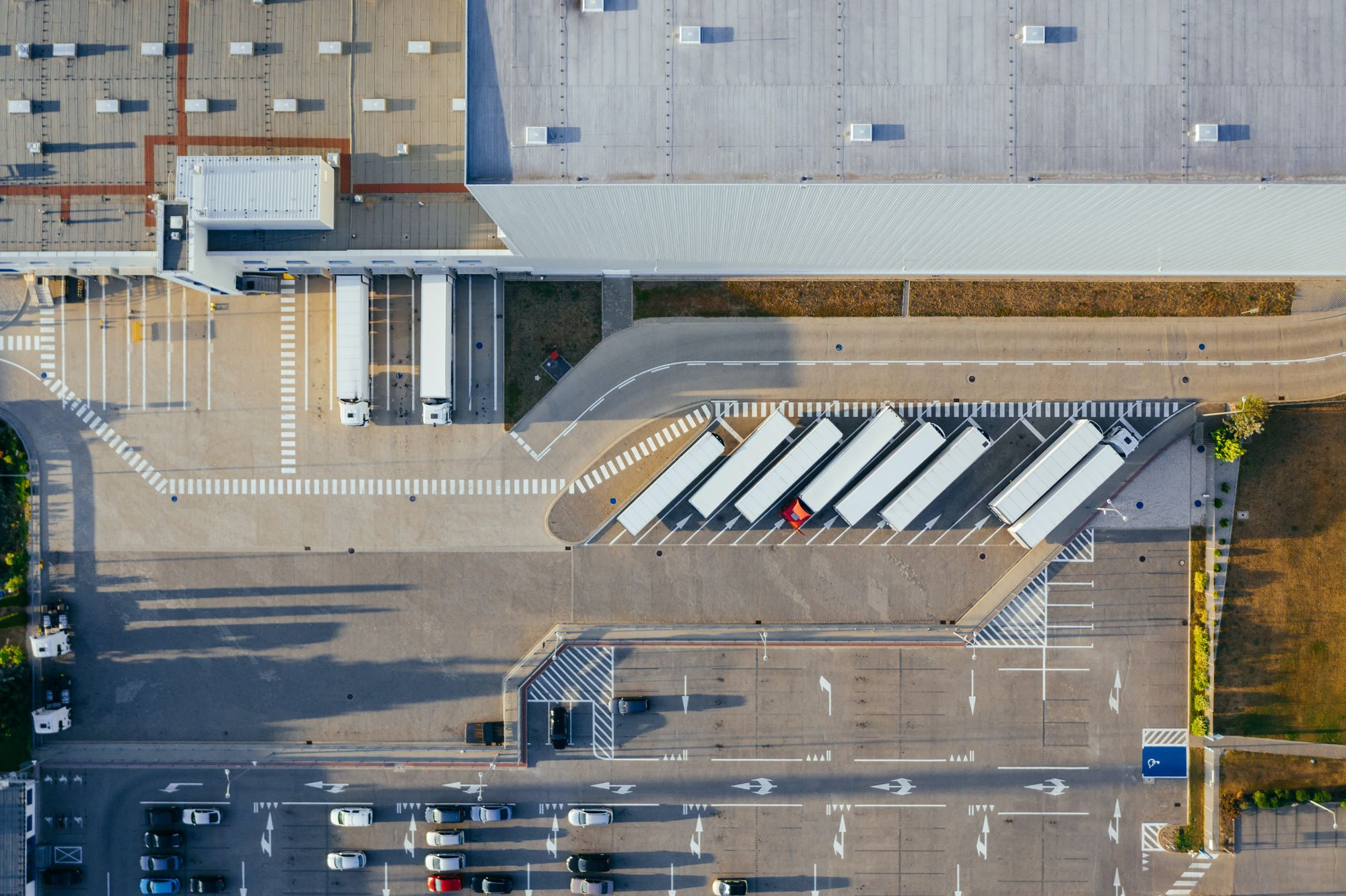 Warehouse aerial view