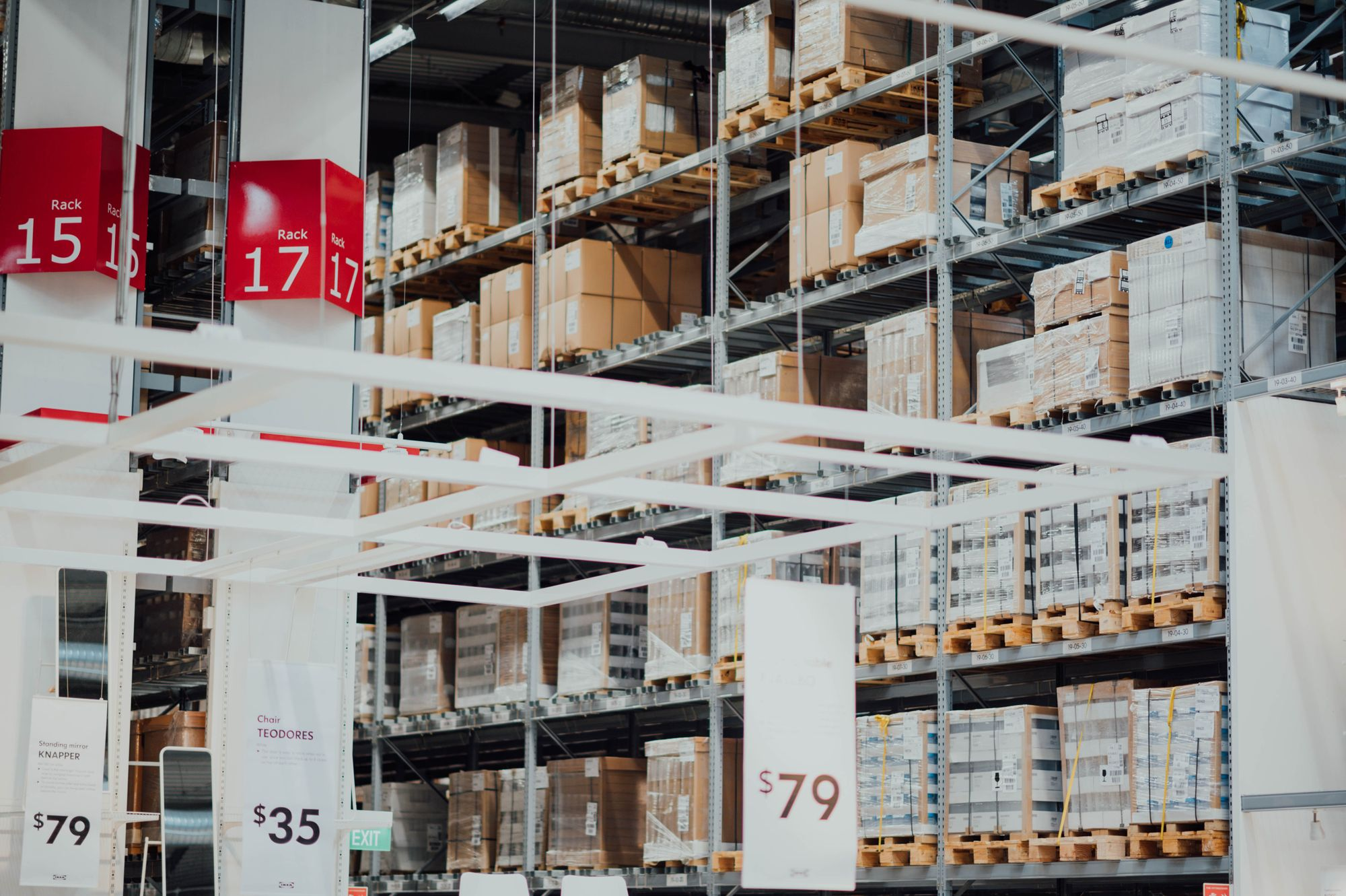 Interior of an on-demand warehouse