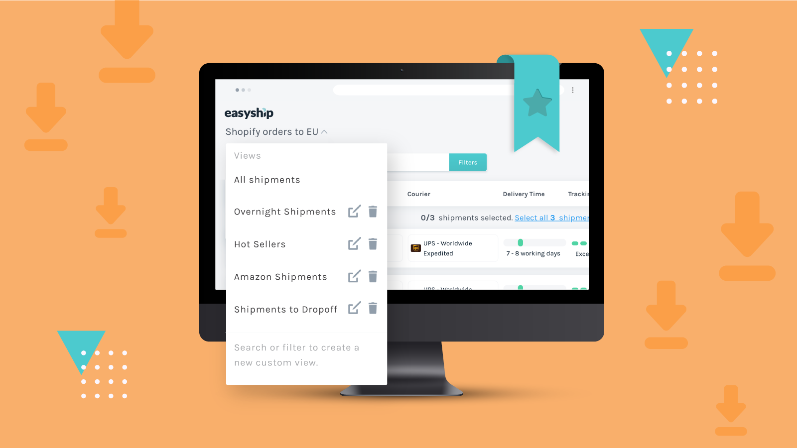 Easyship Feature: Saved Views for Speedier Shipment Management