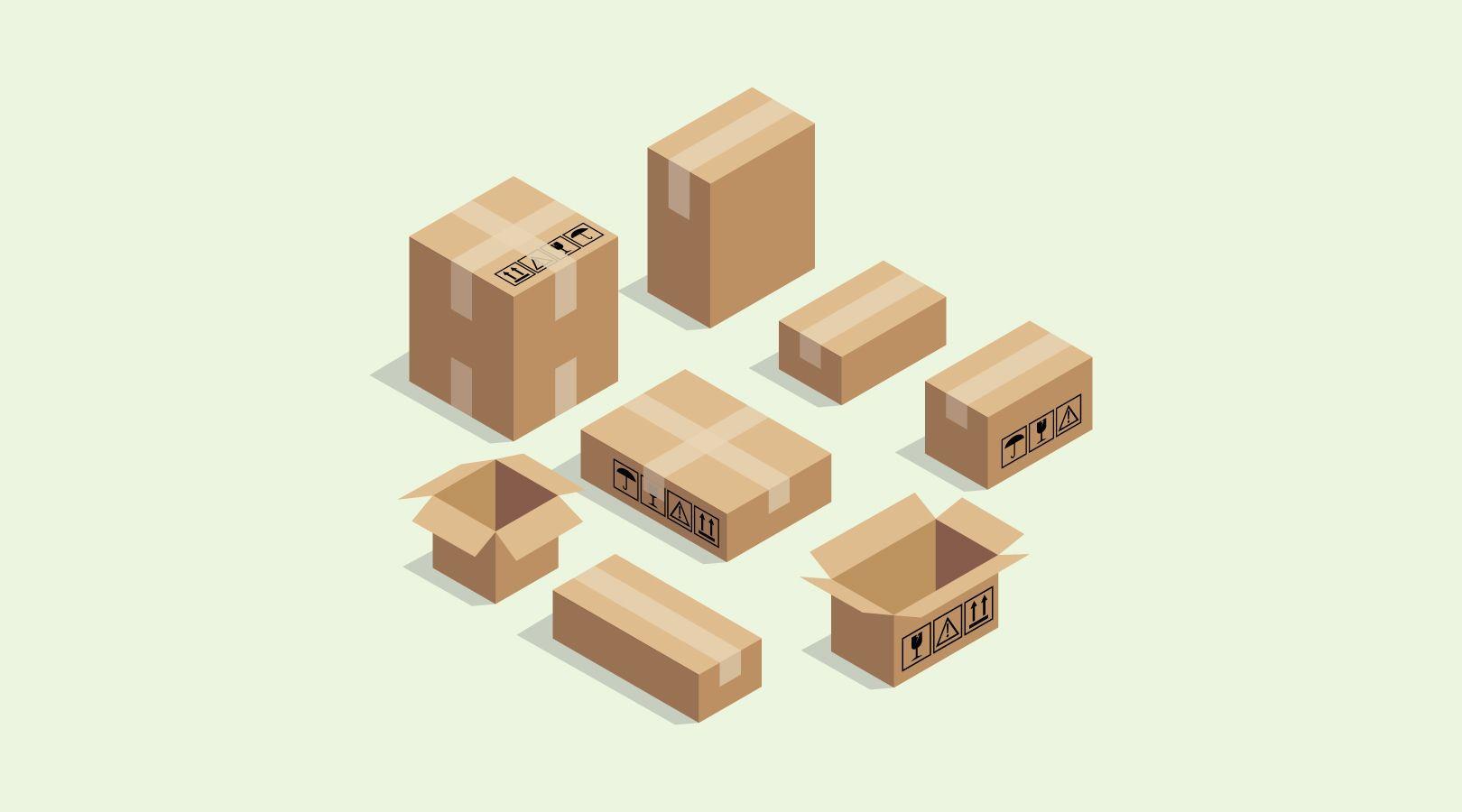 Easyship shipping boxes