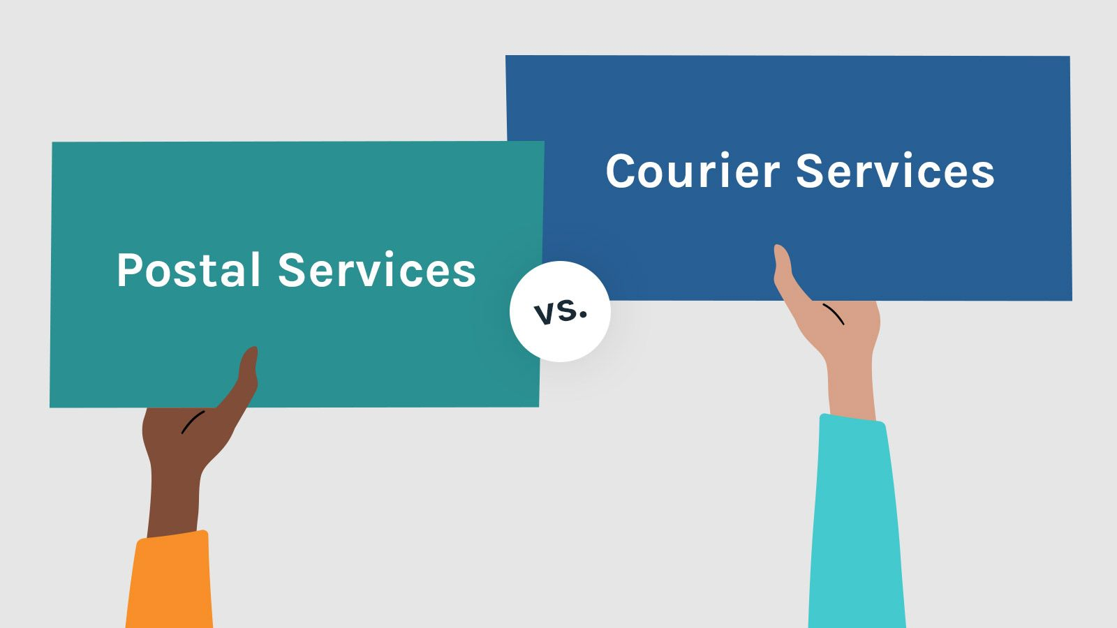 Courier Services vs Postal Services - Understanding the difference