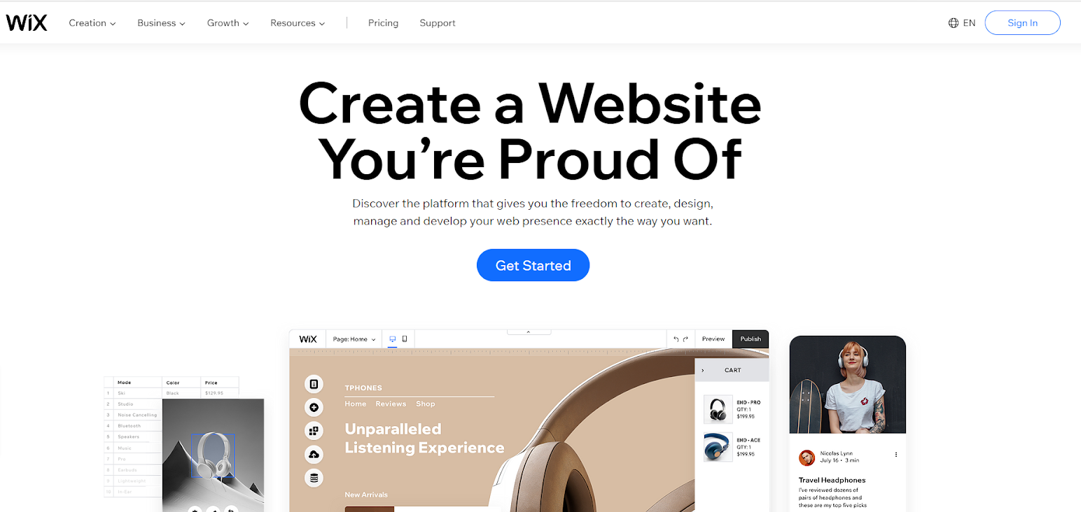 The Pros & Cons of Wix's Website